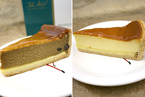 チーズケーキを横から見よう